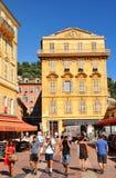 Stary miasteczko Ładny, Francja Zdjęcia Stock