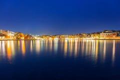 Stary miasteczko Chania miasto przy nocą, Crete Obraz Royalty Free