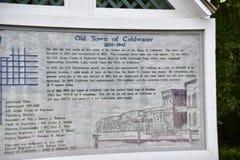 Stary miasteczko Coldwater Mississippi plakieta zdjęcie royalty free