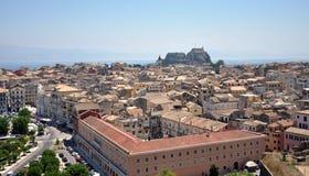 Stary miasteczko Corfu, Grecja Zdjęcia Royalty Free