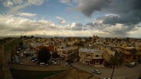 Stary miasteczko Famagusta wśród fortecy, panorama zbiory