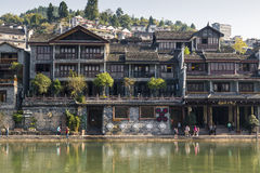 Stary miasteczko Fenghuang okręg administracyjny, Hunan, Chiny Obraz Royalty Free