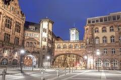 Stary miasteczko Frankfurt magistrala przy nocą Obraz Royalty Free