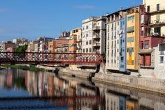 Stary miasteczko Girona, Catalonia, Hiszpania Fotografia Stock