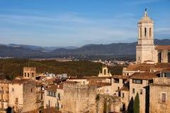 Stary miasteczko Girona miasto w Catalonia Fotografia Royalty Free