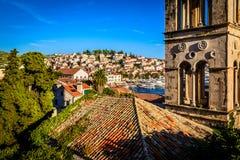 Stary miasteczko Hvar na Hvar wyspie w Chorwacja Obrazy Royalty Free