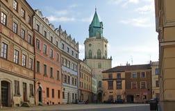 Stary miasteczko Lublin zdjęcie stock