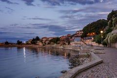 Stary miasteczko Nessebar wcześnie w ranku Bułgarski Czarny Denny wybrzeże Zdjęcie Royalty Free