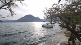 Stary miasteczko Perast na brzeg Kotor zatoka, Montenegro Th zbiory wideo