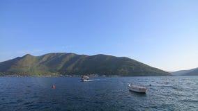 Stary miasteczko Perast na brzeg Kotor zatoka, Montenegro Th zdjęcie wideo