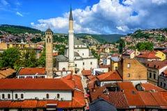 Stary miasteczko Sarajevo, Bośnia i Herzegovina, fotografia stock