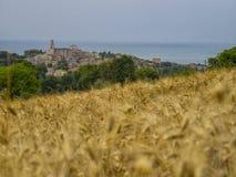 Stary miasteczko Sirolo, Conero, Marche, Włochy fotografia royalty free