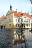 Stary miasteczko Tallin po deszczu Zdjęcia Royalty Free
