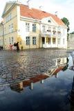 Stary miasteczko Tallin po deszczu Zdjęcia Stock