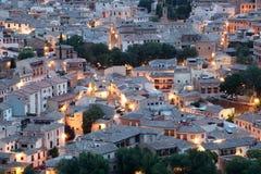 Stary miasteczko Toledo przy nocą, Hiszpania Zdjęcia Stock