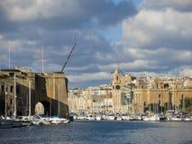 Stary miasteczko Valletta obraz royalty free