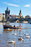 Stary miasteczko, Vltava rzeka, Praga, republika czech (UNESCO) Fotografia Royalty Free