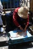 Stary miasteczko w Essaouira, Maroko Orientalna podróż zaniki Obraz Stock