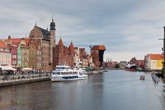 Stary miasteczko w Gdańskim, Polska Zdjęcia Royalty Free
