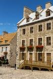 Stary miasteczko w Quebec mieście obraz royalty free