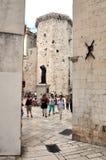 Stary miasteczko w rozłamu, Chorwacja (Stari absolwent) Zdjęcia Stock