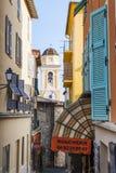 Stary miasteczko w villefranche-sur-mer Zdjęcie Royalty Free