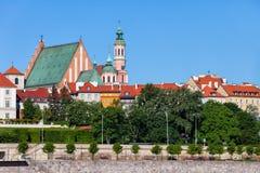 Stary miasteczko Warszawska linia horyzontu Zdjęcia Royalty Free