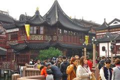 Stary miasto bóg ` s Yuyuan i świątynia Uprawiamy ogródek w Szanghaj Zdjęcie Royalty Free