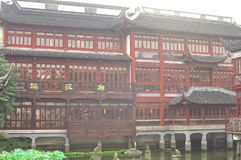Stary miasto bóg ` s Yuyuan i świątynia Uprawiamy ogródek w Szanghaj Obraz Royalty Free
