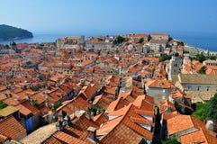 Stary miasto Dubrovnik od above obraz stock