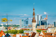 Stary miasto Grodzki Tallinn W Estonia Zdjęcia Royalty Free