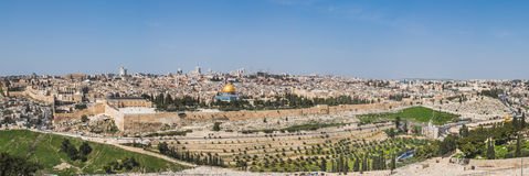 Stary miasto Jerozolima, Izrael panorama zdjęcia stock