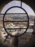 Stary miasto Jerozolima z nadokiennymi barami Obrazy Stock