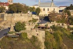 Stary miasto Kamenetz-Podolsk Ukraina Zdjęcia Royalty Free
