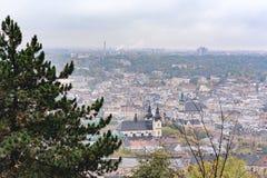 Stary miasto Lviv od wzrosta Historyczny centrum miasta jest na UNESCO światowego dziedzictwa liście Zdjęcie Stock