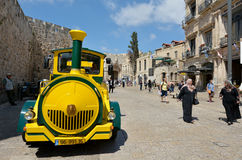Stary miasto pociąg w Jerozolimskim Izrael Fotografia Stock