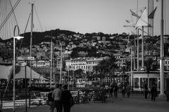 Stary miasto port w Genova, Włochy obrazy stock