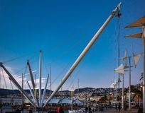 Stary miasto port w Genova, Włochy obrazy royalty free