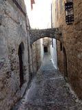 Stary miasto Rhodos Fotografia Royalty Free