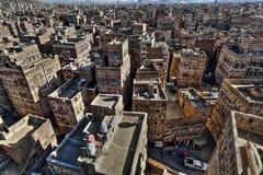 Stary miasto Sana'a w HDR Obraz Royalty Free