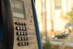 Stary miasto telefonu przedpole i budynku tła miasto Sofia Bułgaria obrazy royalty free