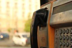 Stary miasto telefonu przedpole i budynku tła miasto Sofia Bułgaria fotografia royalty free