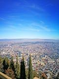 stary miasto w Gruzja Tbilisi słonecznym dniu widok od odgórnego punktu Fotografia Stock