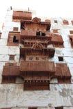Stary miasto w Jeddah, Arabia Saudyjska znać jako ` Jeddah Dziejowy ` Stare i dziedzictwo drogi w Jeddah i budynki zgadzam się ba obrazy royalty free