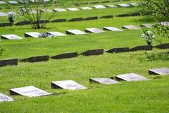 Stary militarny cmentarz w Lappeenranta Fotografia Royalty Free