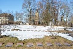 Stary militarny cmentarz w Lappeenranta Zdjęcia Royalty Free