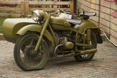 Stary militarny rosyjski motocykl Obraz Royalty Free