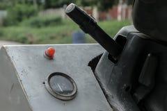 Stary milowy kierownica rocznika samochód Obraz Royalty Free