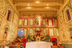 Stary misi Santa Ines Solvang Kalifornia bazyliki ołtarza krzyż Fotografia Stock