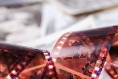 Stary 35 mm przekręcający film Zdjęcia Stock